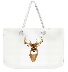 Deer - Front View Weekender Tote Bag by Michael Vigliotti