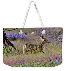 Deer In The Meadow Weekender Tote Bag by Debby Pueschel