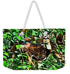 Deer's Green Day Weekender Tote Bag
