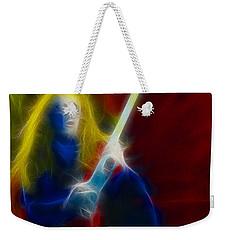 Def Leppard-adrenalize-ga5-vivian-fractal Weekender Tote Bag by Gary Gingrich Galleries