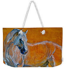 Weekender Tote Bag featuring the painting Del Sol by Jani Freimann