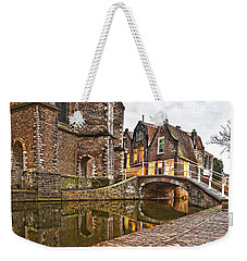 Delft Behind The Church Weekender Tote Bag