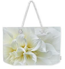 Delicate White Softness Weekender Tote Bag