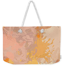 Delicately Peach Weekender Tote Bag by Lourry Legarde