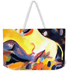 Weekender Tote Bag featuring the painting Delight by Helena Wierzbicki