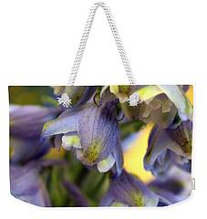Delphinium Blue Weekender Tote Bag by Joseph Skompski