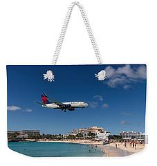 Delta 737 St. Maarten Landing Weekender Tote Bag