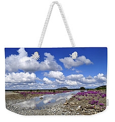 Weekender Tote Bag featuring the photograph Delta Junction Summer by Cathy Mahnke