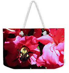 Weekender Tote Bag featuring the photograph Delving Into Sweetness by Robyn King