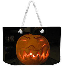Demented Mister Ullman Pumpkin 2 Weekender Tote Bag by Shawn Dall
