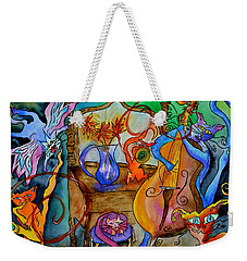 Demon Cats Weekender Tote Bag by Beverley Harper Tinsley