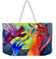 Demon Cats Dance By The Light Of The Moon Weekender Tote Bag