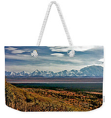 Weekender Tote Bag featuring the photograph Denali Colors by Jeremy Rhoades