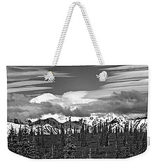 Denali In Clouds Weekender Tote Bag