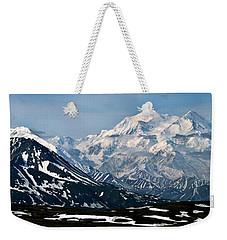 Weekender Tote Bag featuring the photograph Denali National Park Panorama by John Haldane