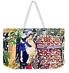 Dendrocopos Major 'great Spotted Woodpecker' Weekender Tote Bag