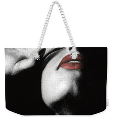 Weekender Tote Bag featuring the painting Denial by Pat Erickson