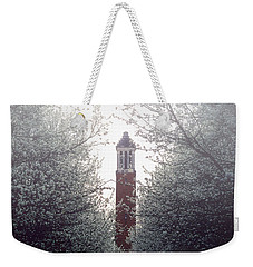 Weekender Tote Bag featuring the photograph Denny Chimes Foggy Blossoms by Ben Shields