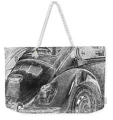 Weekender Tote Bag featuring the photograph Dented Ego by Jean OKeeffe Macro Abundance Art