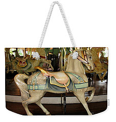 Weekender Tote Bag featuring the photograph Dentzel Menagerie Carousel Horse by Rose Santuci-Sofranko