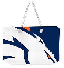 Denver Broncos Football Weekender Tote Bag