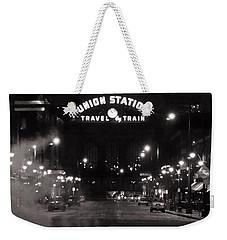 Denver Union Station Square Image Weekender Tote Bag