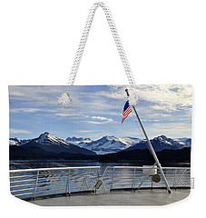 Weekender Tote Bag featuring the photograph Departing Auke Bay by Cathy Mahnke