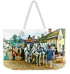 Departing Cranford Weekender Tote Bag