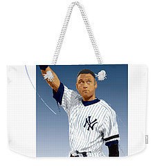 Weekender Tote Bag featuring the digital art Derek Jeter 3000 Hits by Scott Weigner