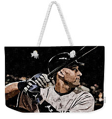 Derek Jeter On Canvas Weekender Tote Bag by Florian Rodarte