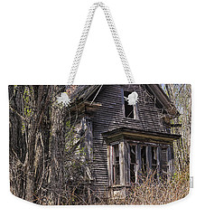 Weekender Tote Bag featuring the photograph Derelict House by Marty Saccone