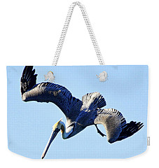 Weekender Tote Bag featuring the photograph Descent by AJ  Schibig