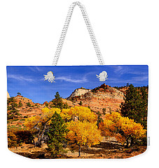 Weekender Tote Bag featuring the photograph Desert Autumn by Greg Norrell