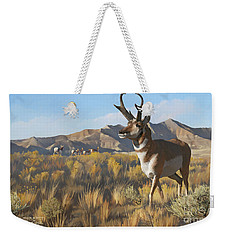Desert Buck Weekender Tote Bag by Rob Corsetti