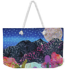 Weekender Tote Bag featuring the tapestry - textile Desert Dreaming by Ellen Levinson