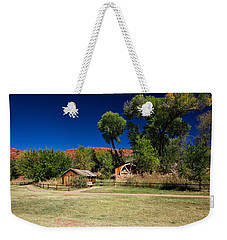 Weekender Tote Bag featuring the photograph Desert Field by Dave Files