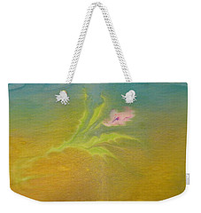 Weekender Tote Bag featuring the painting Desert Flower by Mike Breau