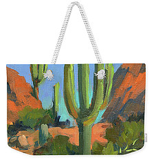 Desert Morning Saguaro Weekender Tote Bag by Diane McClary