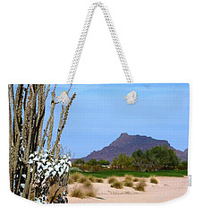 Weekender Tote Bag featuring the photograph Desert Mountain by Mike Ste Marie