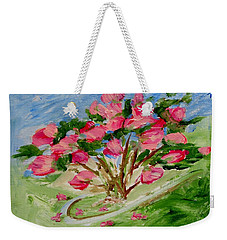 Desert Rose Abstract Weekender Tote Bag by Jamie Frier