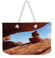 Weekender Tote Bag featuring the photograph Desert Signpost by Alan Socolik
