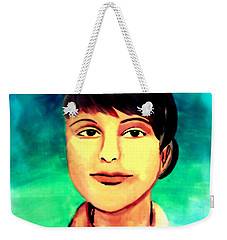 Weekender Tote Bag featuring the painting Desert Storm Jennifer by Michelle Dallocchio