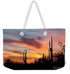 Desert Sunset Weekender Tote Bag by Joseph Baril