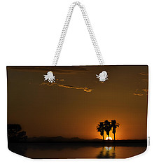 Weekender Tote Bag featuring the photograph Desert Sunset by Lynn Geoffroy