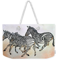 Desert Zebras Weekender Tote Bag by Janet Immordino