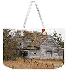 Weekender Tote Bag featuring the photograph Deserted House by Mary Carol Story