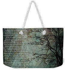 Desiderata Of Happiness - Vintage Art By Jordan Blackstone Weekender Tote Bag by Jordan Blackstone
