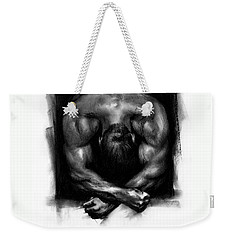 Weekender Tote Bag featuring the drawing Despondent by Paul Davenport