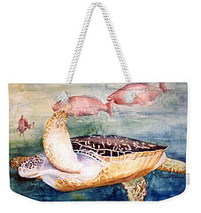 Determined - Loggerhead Sea Turtle Weekender Tote Bag by Roxanne Tobaison