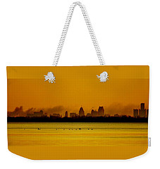 Detroit At Dawn Weekender Tote Bag